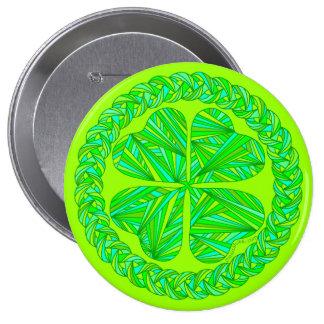 St. Patrick's Day Celtic Clover Art Button