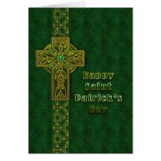 St. Patrick's Day - Celtic Cross Card at Zazzle