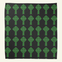St Patrick's Day Celtic Cross Green Bandana