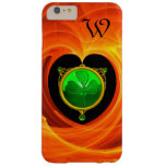 ST PATRICK'S DAY CELTIC HEART SHAMROCK MONOGRAM BARELY THERE iPhone 6 PLUS CASE