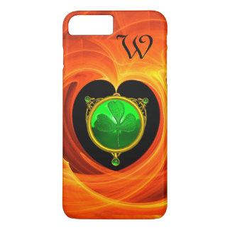 ST PATRICK'S DAY CELTIC HEART SHAMROCK MONOGRAM iPhone 7 PLUS CASE
