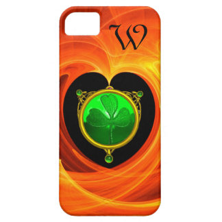 ST PATRICK'S DAY CELTIC HEART,SHAMROCK MONOGRAM iPhone SE/5/5s CASE