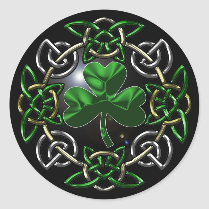 St. Patrick's Day Celtic knot design Classic Round Sticker
