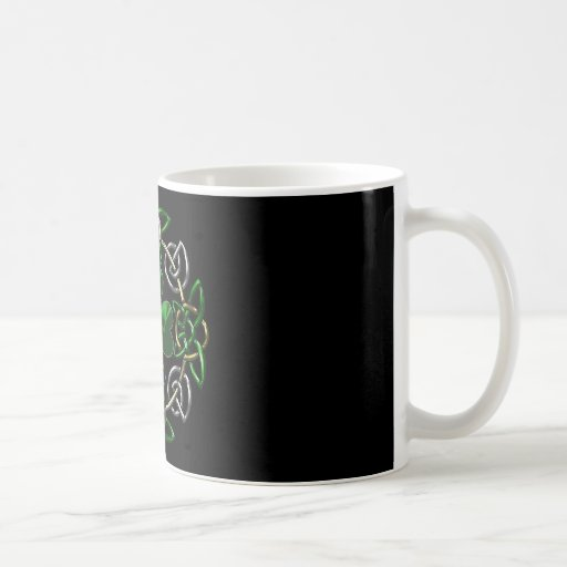 St. Patrick's Day Celtic knot design Coffee Mugs