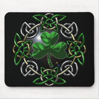 St. Patrick's Day Celtic knot design Mouse Pad