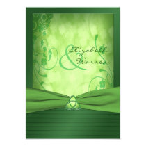 "St. Patrick's Day Celtic Love Knot Invitation 5"" X 7"" Invitation Card"