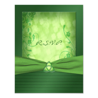 St. Patrick's Day Celtic Love Knot Reply Card