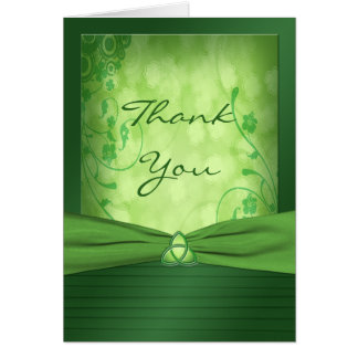 St. Patrick's Day Celtic Love Knot Thank You Card Cards