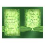 St. Patrick's Day Celtic Love Knot Wedding Program Flyer