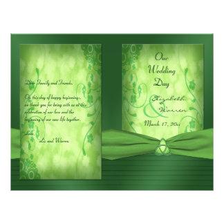 """St. Patrick's Day Celtic Love Knot Wedding Program 8.5"""" X 11"""" Flyer"""