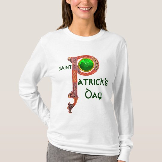 ST PATRICK'S DAY CELTIC P MONOGRAM  WITH SHAMROCK T-Shirt