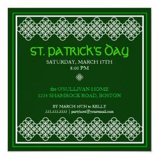 St. Patricks Day Celtic Pattern Party Invitation