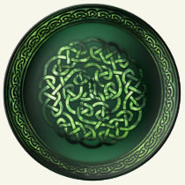 St. Patrick's Day - Celtic Pattern Round Dinner Plate