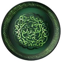 St. Patrick's Day - Celtic Pattern Round Dinner Plate