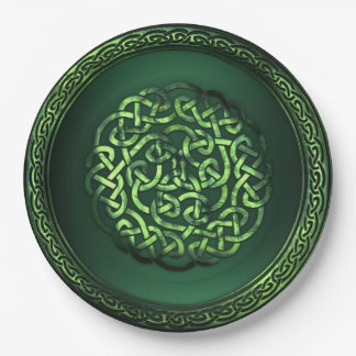 St. Patrick's Day - Celtic Pattern Round Paper Plate