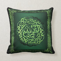 St. Patrick's Day - Celtic Pattern Round/SqFrame Throw Pillow
