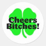 St Patricks Day Cheers Classic Round Sticker
