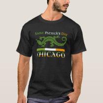 St. Patricks Day Chicago, green white orange T-Shirt