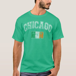 St Patrick's Day Chicago Irish Flag T-Shirt