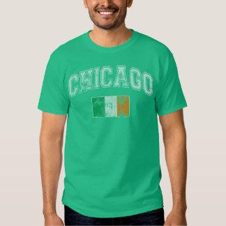 St Patrick's Day Chicago Irish Flag Tee Shirt