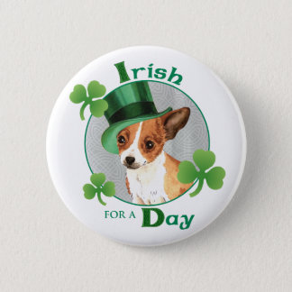 St. Patrick's Day Chihuahua Pinback Button