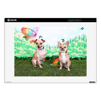 "St Patricks Day - Chihuahua - Rockwell and Rambo 15"" Laptop Skins"