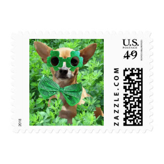 St. Patrick's Day Chihuahua Stamps