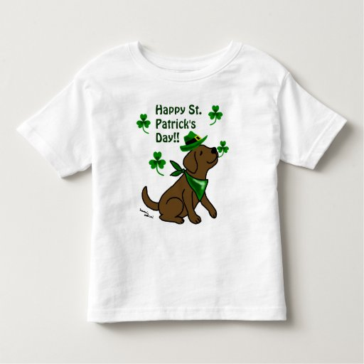 St. Patrick's Day  Chocoalte Labrador Toddler T-shirt