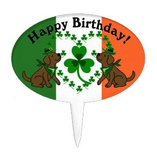 St. Patrick's Day Chocolate Lab Birthday Cake Topper