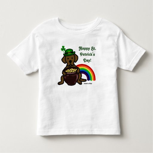 St. Patrick's Day Chocolate Lab Rainbow Toddler T-shirt