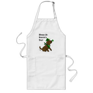 St. Patrick's Day Chocolate Labrador Long Apron