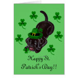 St. Patrick's Day Chocolate Labrador Puppy Cards