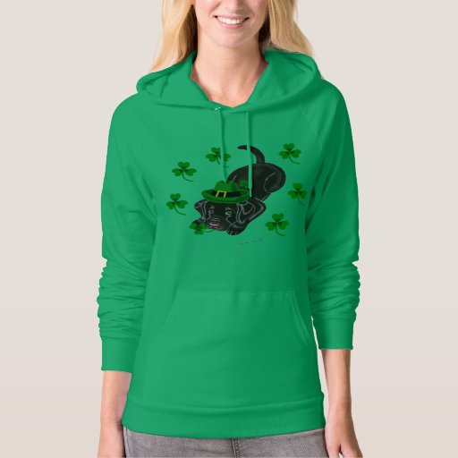 St. Patrick's Day Chocolate Labrador Puppy Hoodie