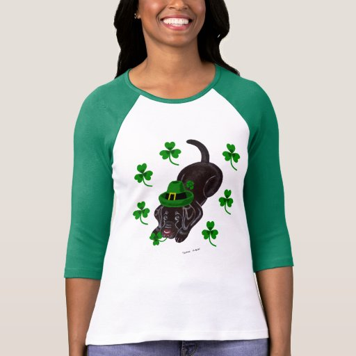 St. Patrick's Day Chocolate Labrador Puppy T-Shirt