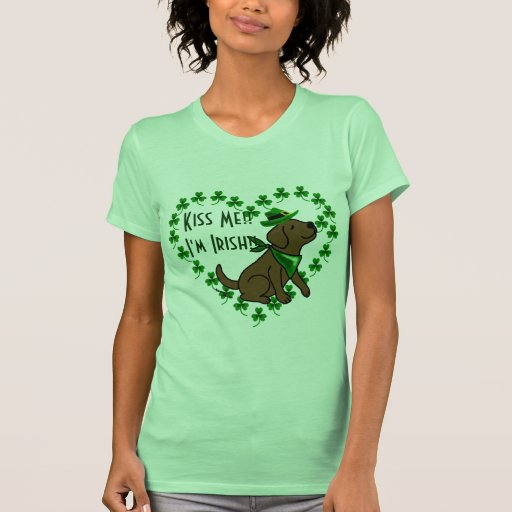 St. Patrick's Day Chocolate Labrador T-Shirt