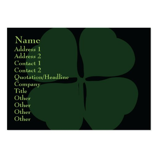 St Patrick's Day- Chubby Business Card