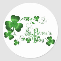 St Patricks Day Classic Round Sticker