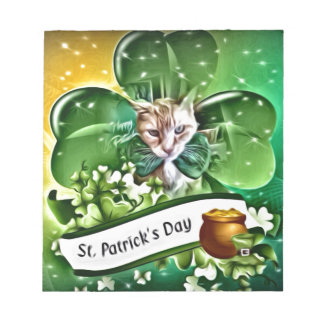 St Patrick's Day Claude Notepad