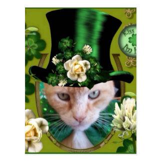 St Patricks Day Claude Postcard