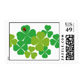 St. Patrick's Day Clover & Ladybug Postage