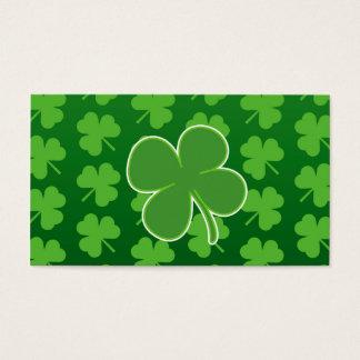 St. Patrick's Day Clover Leaf business cards