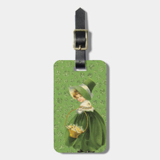 St. Patrick's Day Clover Leaf Luggage Tag
