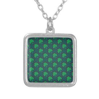 St. Patrick's Day Clover-Leaf Seamless Pattern Custom Necklace