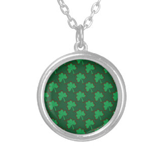 St. Patrick's Day Clover-Leaf Seamless Pattern Necklaces