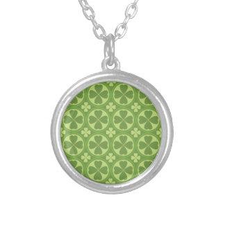 St. Patrick's Day Clover-Leaf Seamless Pattern Jewelry