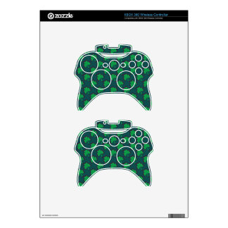 St. Patrick's Day Clover-Leaf Seamless Pattern Xbox 360 Controller Skin