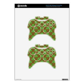 St. Patrick's Day Clover-Leaf Seamless Pattern Xbox 360 Controller Decal