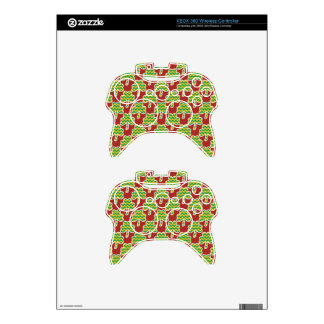 St. Patrick's Day Clover-Leaf Seamless Pattern Xbox 360 Controller Skins