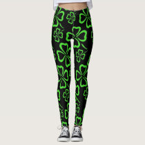 St. Patrick's Day Clover Leggings