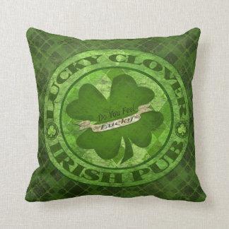 St. Patrick's Day Clover Lucky Irish Throw Pillow